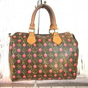 Authentic Louis Vuitton Cherry Cerises Speedy 25